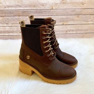 Timberland Brown Silver Blossom Mid Boots
